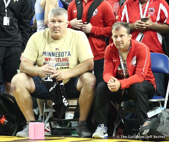 Minnesota Coaches Billy Pierce and Brandon Paulson 180715CJF0097