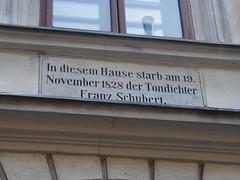 Home of Franz Schubert - Vienna, Austria - whe...