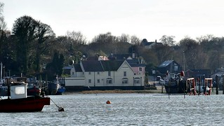 The Butt and Oyster, Pin Mill, from Nancy Blackett, 21st March 2018. Photo by Bill Douglas
