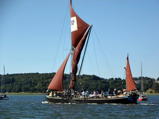 Sailing Barge Victor passes the RHYC. Photo: I Jacobson.