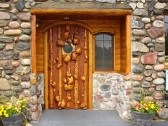 Unique Door of Leggs Inn restaurant, Cross Village, Michigan by artbabee