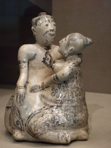 Affectionate couple Sstoneware 1350-1550 CE Thailand