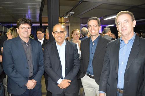 Venilson Vitorino, Roberto Maia, Paulo Novaes e o vice-presidente industrial da Usiminas, Tulio Chipoletti