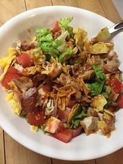 Chicken taco salad #glutenfree #homemade #weekoftaco