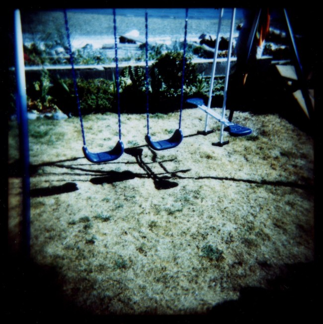 Swing set by the ocean