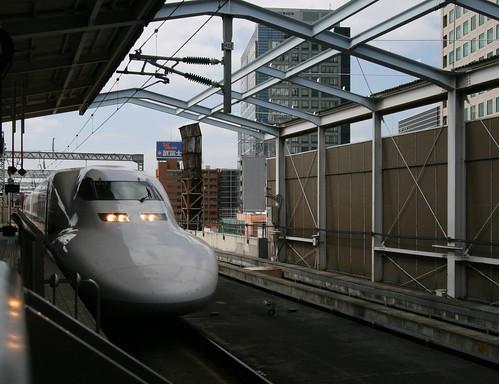 Tokio Kioto en el Nozomi Super Express Shinkansen