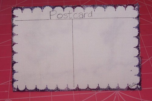 Crazy Quilted Postcar - Tutorial - Step 8