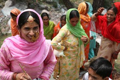 Gaddi ceremony, Kanyara village, Himachal Pradesh, India