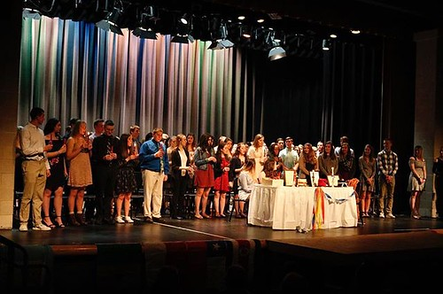 Congratulations to all the Spanish, and Italian students who got inducted into the National Language Society Thursday night. Another congratulations to all the current members and to the seniors who received their cords as well. The ceremony not only indu