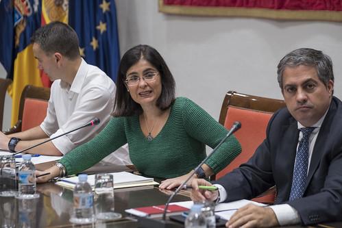 Reunión de la presidenta con Comisión Asuntos Europeos