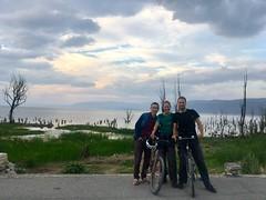 warmshower host Heimat mit uns vor dem Erhai-See