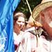 UN flag-bearer