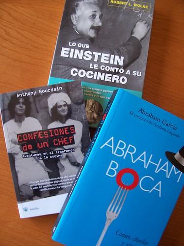 Tres libros de cocina