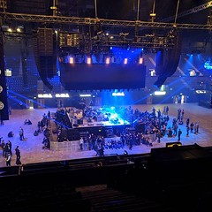 Looks like the Arcade Fire show is going to be in the round