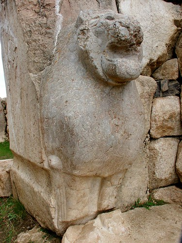 Hattusha's Lion - note the weathered mane