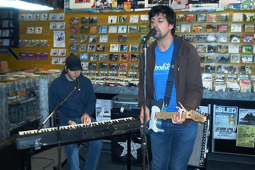 In-Flight Safety live! in-store performance at Music Trader on March 19 2006