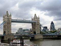 Tower Bridge, Lodon Tower, & Swiss Re building