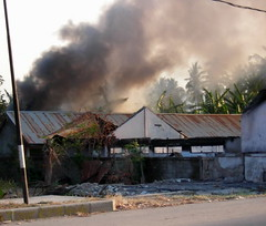 Burning on the Comoro road