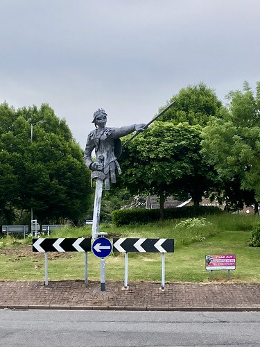 """Our Aethel, Tamworth's new statue of Æthelflæd, Lady of the Mercians."