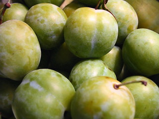 greengage plums from the farmers' market