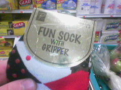 fun sock with gripper