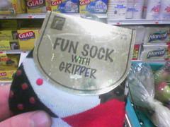 fun sock with gripper