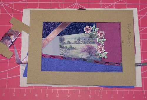 Crazy Quilting Postcard - Tutorial - Step 3