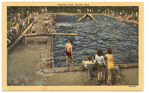 Fancher Pool Post Card