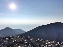 On the summit of Tabeguache Peak looking south towards Mt Shavano