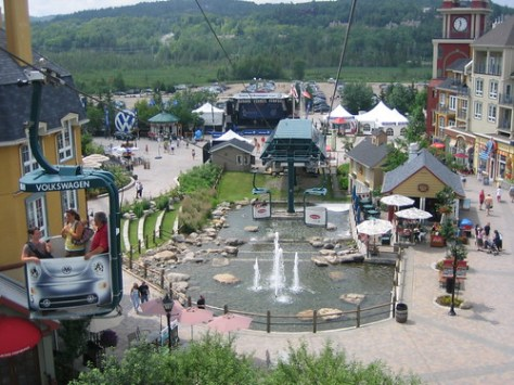 Mont Tremblant village from the gondola