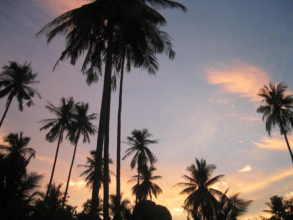 Sunset on Railey Beach