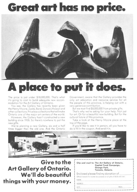 Vintage Ad #84 - Great Art has no Price, Give Us A Building!