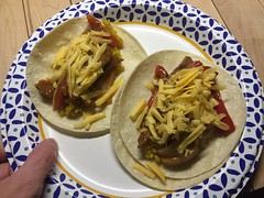 Fajitas on corn tortillas #glutenfree