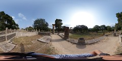 360-Degree View in Temple of Hera Olympia Greece May 2018