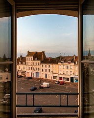 Day 759 - We left this view at the cheapest, dog-friendly hotel in Montargis to get back to the road. It's a perfect 65° and my legs are feeling strong so we should put in some good mileage today. #theworldwalk #travel #france