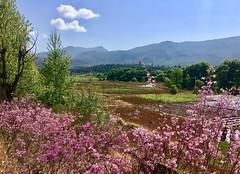Fahrt nach Lijiang auf kleiner Nebenstrasse