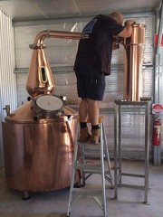 970 litre copper Still with copper insulated barrel, with 6 x electric elements. Installed by Mark @ Capertree NSW.