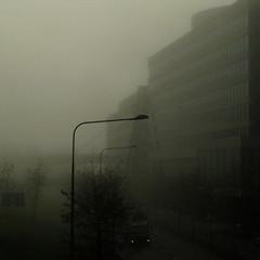 kista, lyktstolpe, dimma