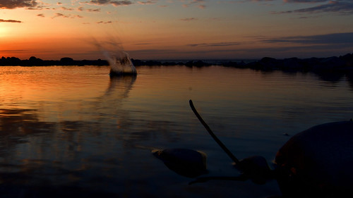 splash of sunset at kilve