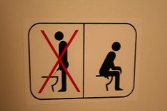 Photo de panneau interdisant de pisser debout
