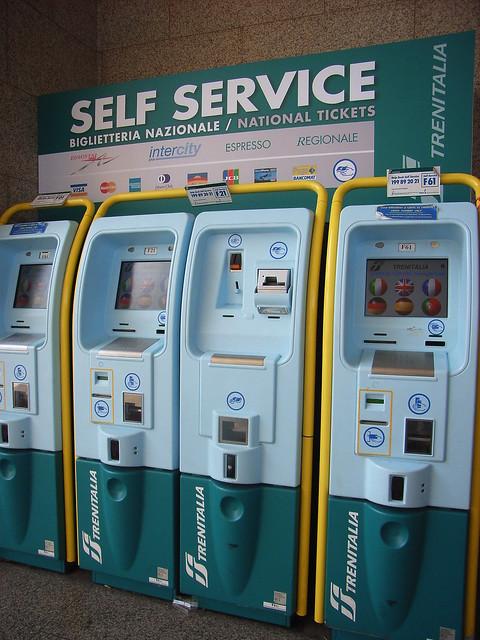 Train ticket machines