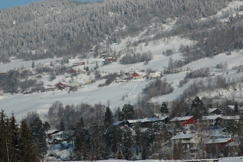 Photo of Lillehammer in winter.