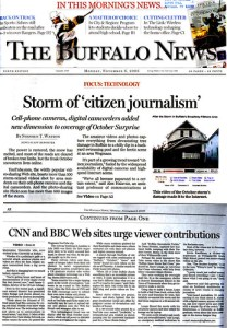 Quoted in Buffalo News about the local citizen journalism phenomenon by inju.