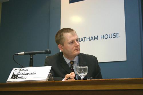 Mark speaking at Chatham House, London, June 2005