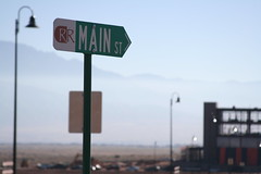Rio Rancho Main St - City Hall Construction Bokeh