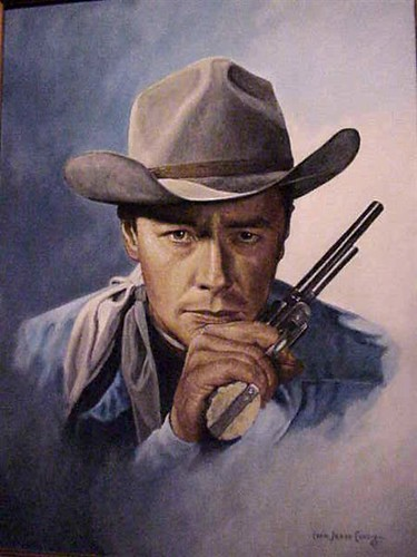 Portrait of early western star Tim Holt by Ivan Jesse