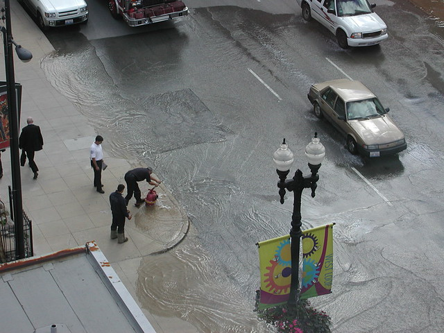 Fire hydrant Flood on Randolph