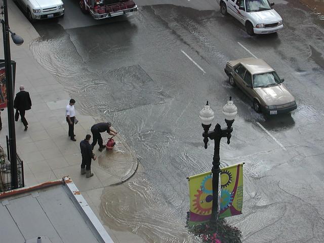 Fire hydrant Flood on Randolph