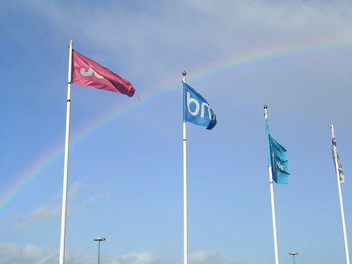 Flags and rainbow