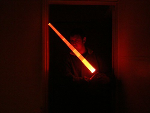 Neil with a Light Sabre from Star Wars